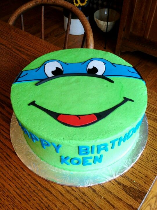 13 Ninga Turtles Cakes Photo Ninja Turtle Birthday Cake Ninja