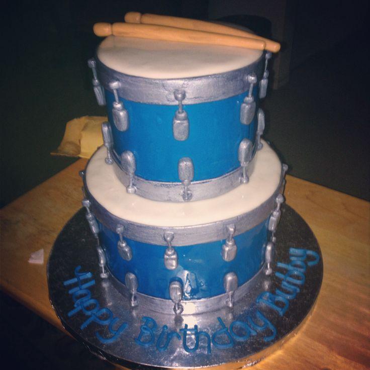 Surprising 10 Birthday Cakes Like A Drum Photo Drum Set Birthday Cake Drum Funny Birthday Cards Online Aboleapandamsfinfo