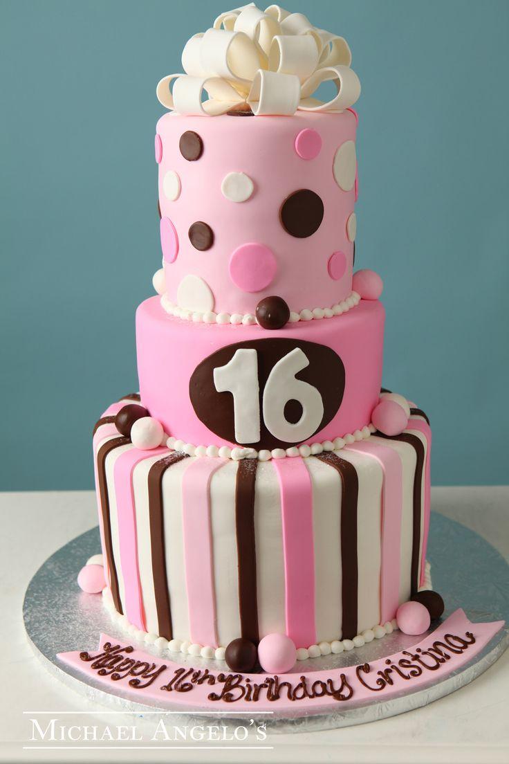 Three Tier Sweet Sixteen Cake