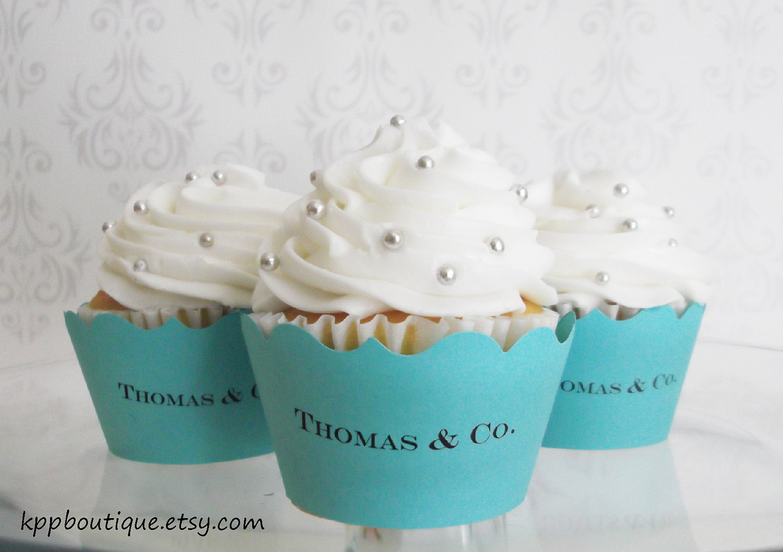 9 Tiffany And Co. Inspired Cupcakes Photo - Tiffany Blue Wedding ...