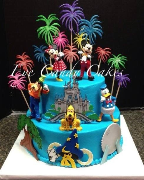 8 Birthday Cakes Walt Disney Photo Walt Disney World Birthday Cake