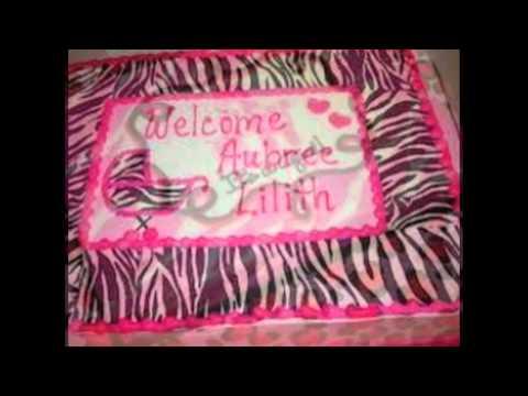 Baby Shower Cakes Zebra Print ~ Pink zebra print sheet cakes photo zebra print sheet cake