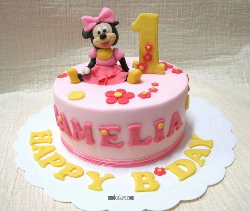 9 One Layer Cakes For 2 Year Old Baby Photo 1 Year Old Girl