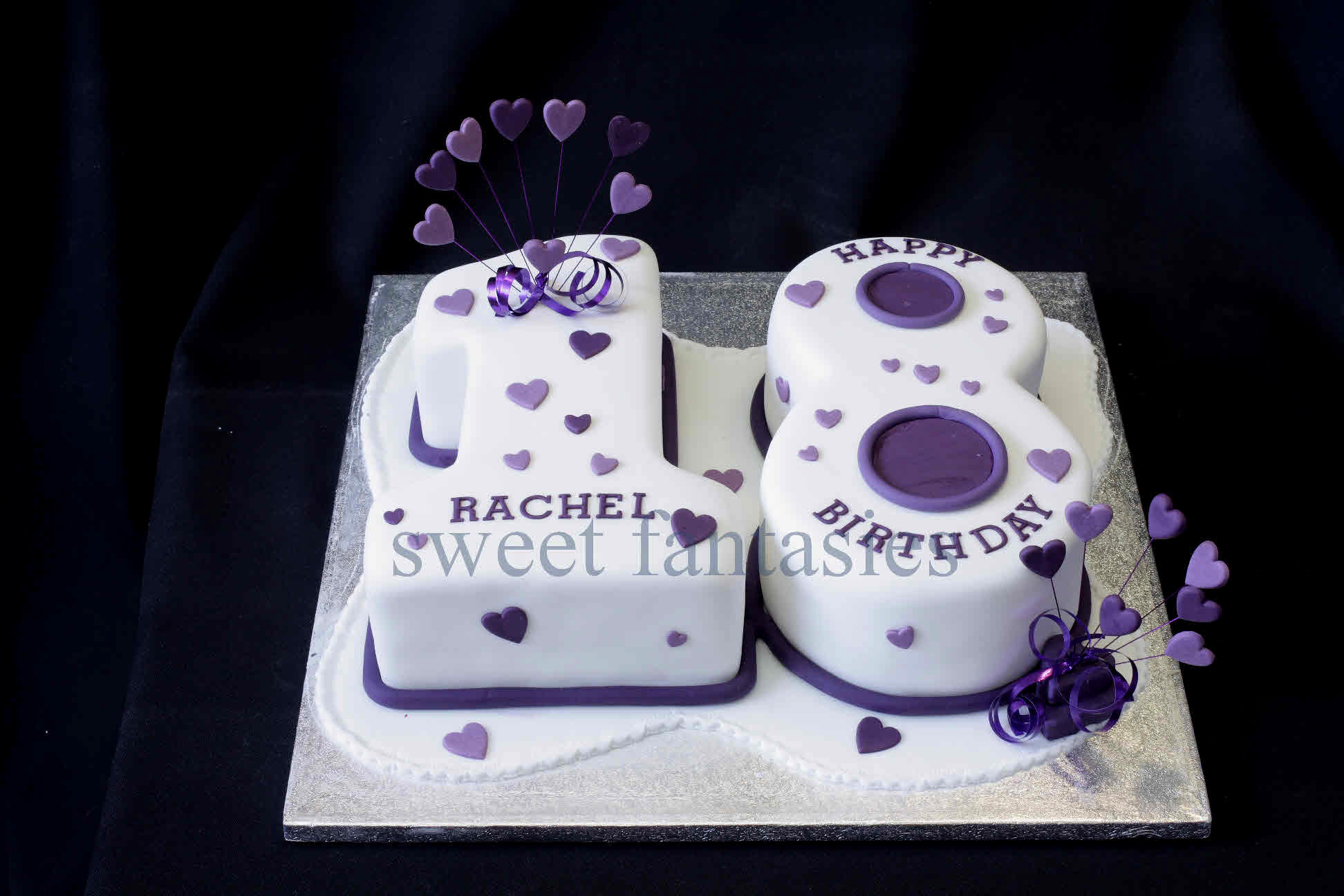 12 Fondant Birthday Cakes For 18 Girl Photo 18 Birthday Cakes for