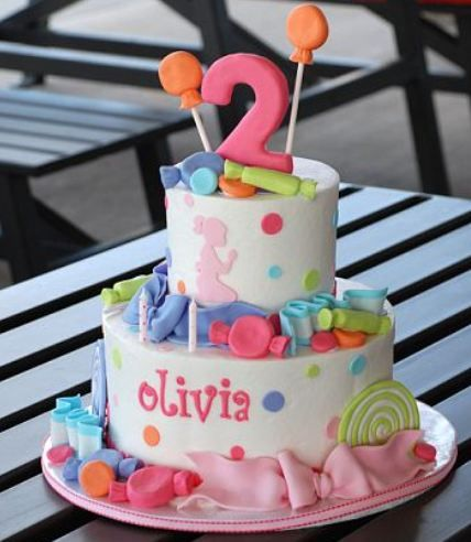 2 Year Old Girl Birthday Cake