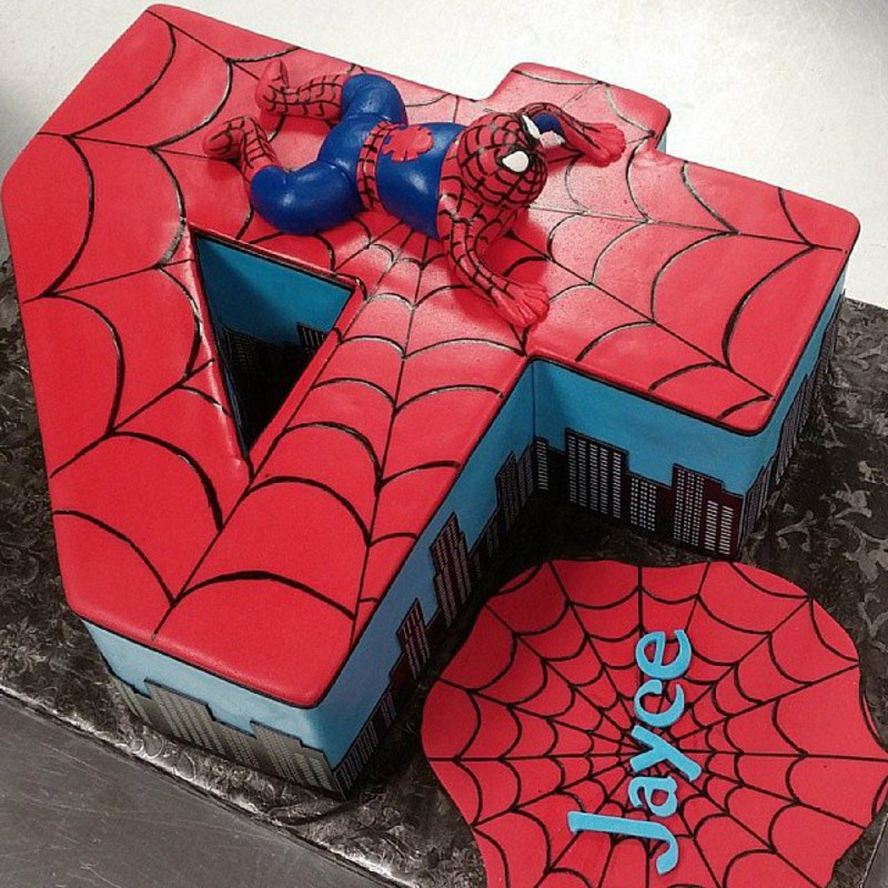 Year Old Birthday Cake Ideas Source 10 Spider Cakes For Boys Photo Superhero 4