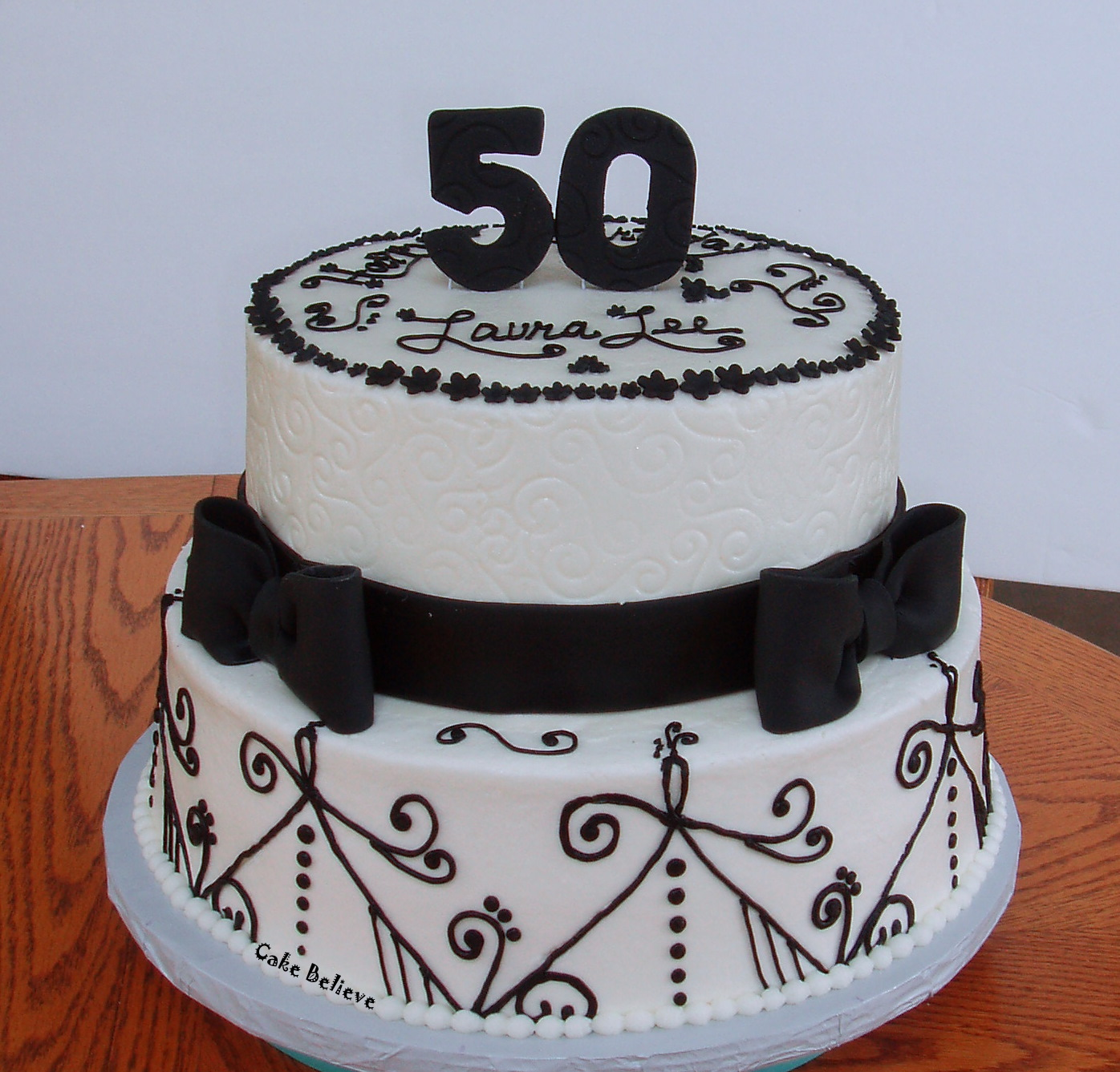 10 Birthday Cakes For 50 People Photo 50th Birthday Party Cake