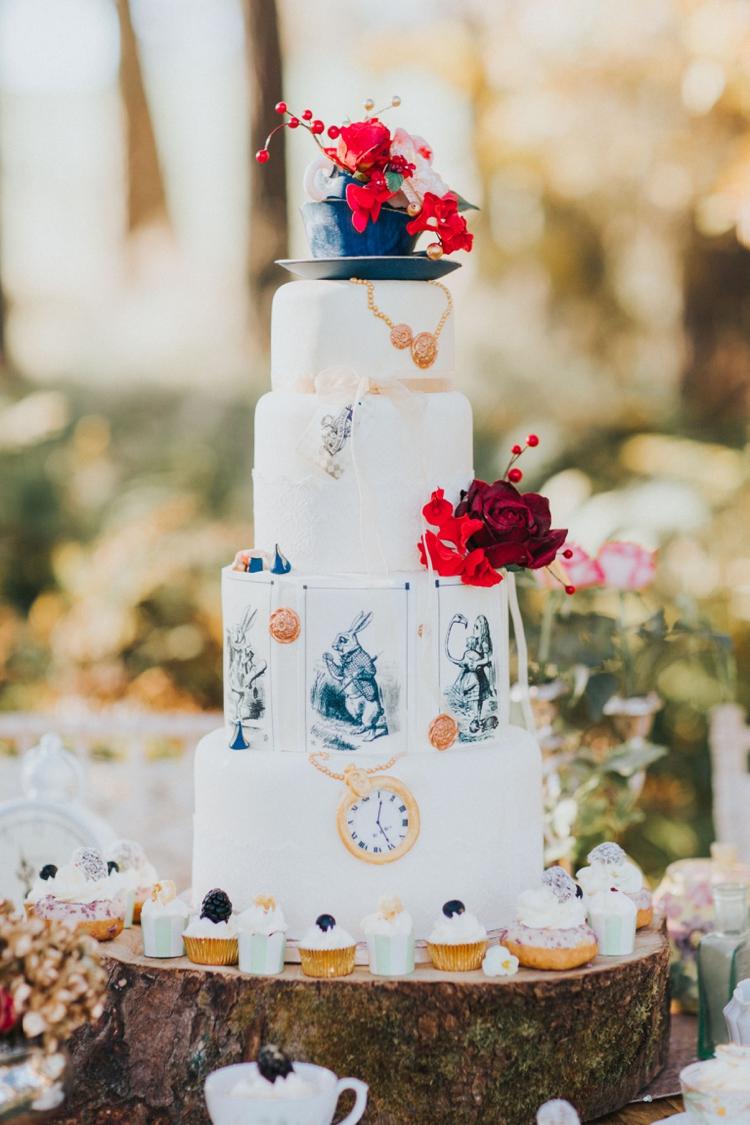 10 Cupcakes Alice Wonderland Wedding Photo - Alice and Wonderland ...