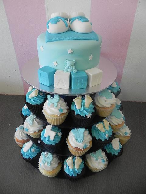 10 Baby Boy Shower Cupcake Cakes Photo Baby Boy Shower Cake Idea