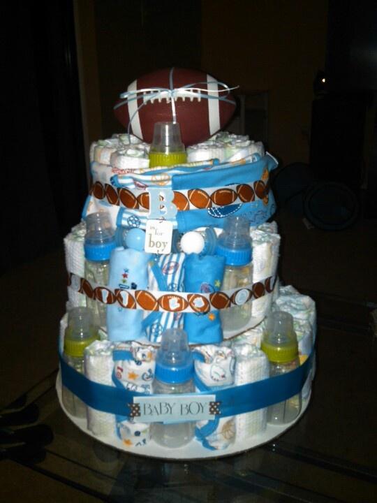 Baby Boy Sports Themed Diaper Cake
