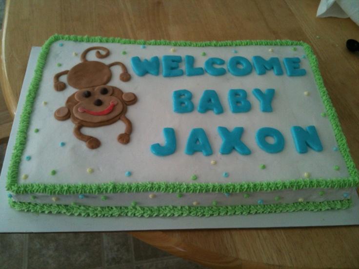 Baby Shower Idea. Baby Shower Idea Via. Boy Baby Shower Sheet Cake Ideas