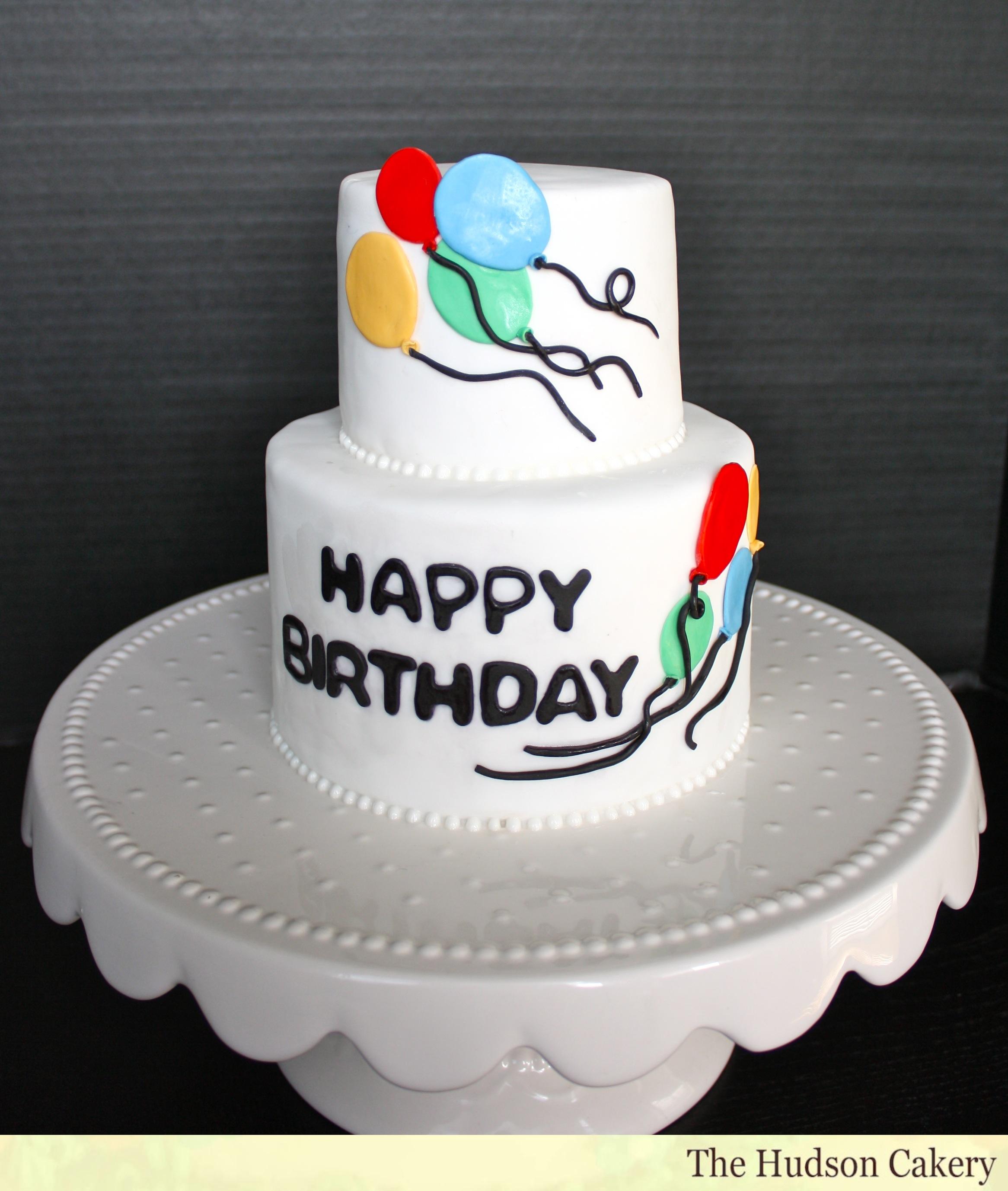 5 Birthday Cakes On It With Balloons Photo Balloon Birthday Cake
