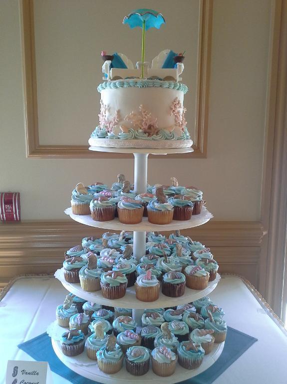 11 beach theme cakes for showers photo beach themed wedding shower beach theme bridal shower cake junglespirit Choice Image