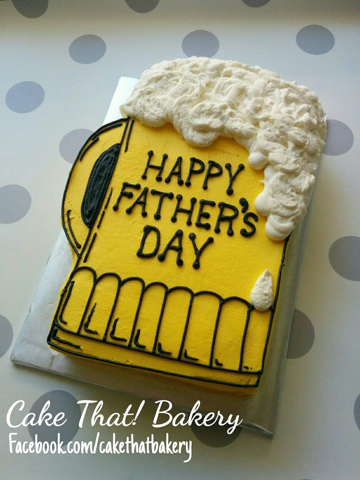 Beer Mug Birthday Cake Idea