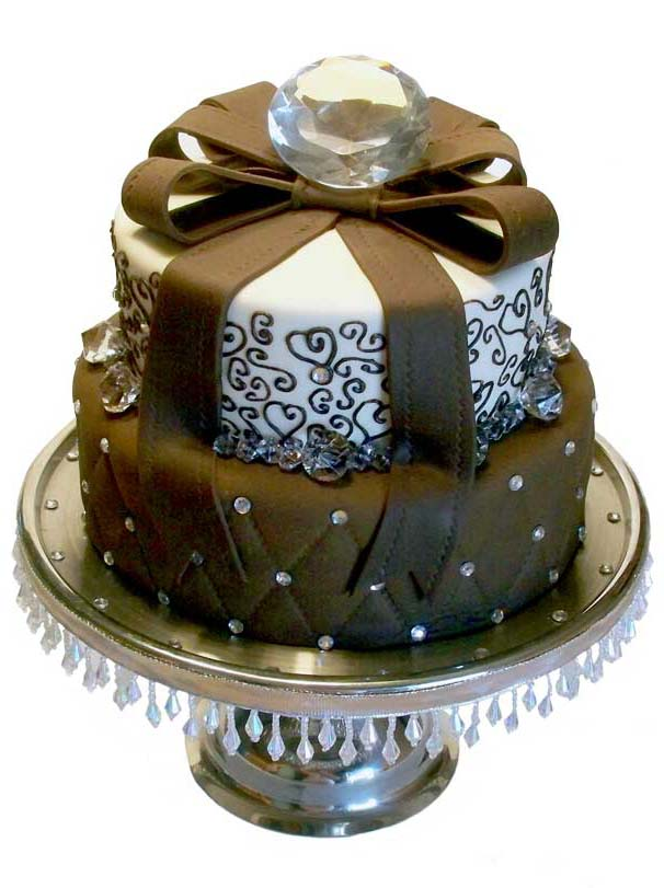 9 Diamond Bday Cakes Photo Denim And Diamonds Birthday Party Ideas
