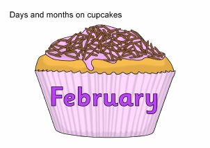 Birthday Cupcake Months Of The Year