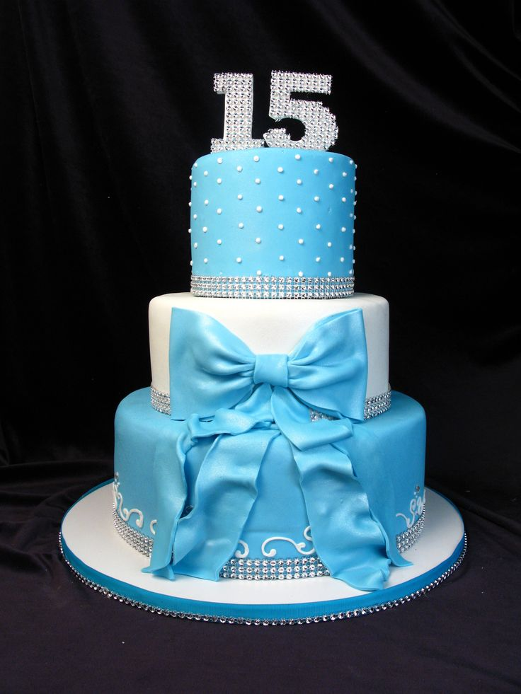 Peachy 10 Simple 15Th Birthday Cakes Photo Blue 15Th Birthday Cake Funny Birthday Cards Online Inifofree Goldxyz