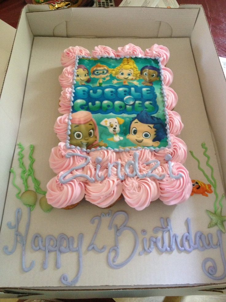 Cool 12 Bubble Guppies Birthday Cake And Cupcakes Photo Bubble Funny Birthday Cards Online Alyptdamsfinfo
