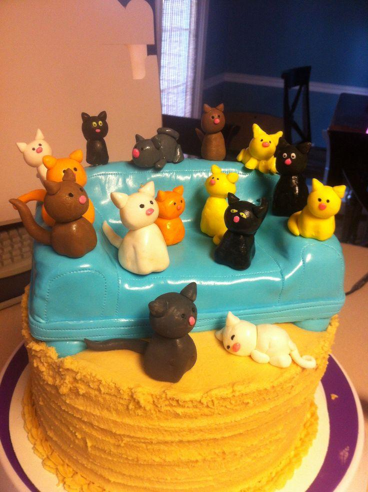 Miraculous 13 Funny Cat Lady Cakes Photo Crazy Cat Lady Cake Crazy Cat Funny Birthday Cards Online Elaedamsfinfo