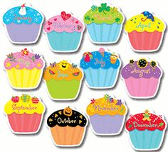 11 Birthday Month Cupcakes With Printable Photo