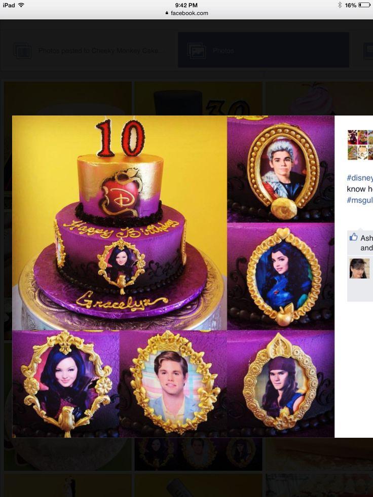 Descendants 2 Birthday Cake
