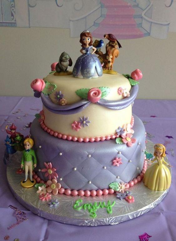 8 Disney Sofia The First Cakes Photo Disney Princess Sofia The