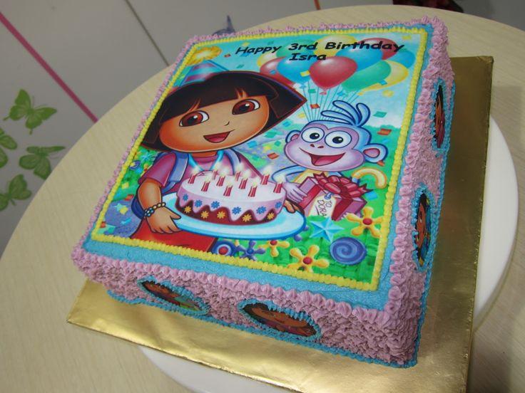 10 Girly Girl Birthday Cakes Dora Photo Dora Birthday Cake Pink