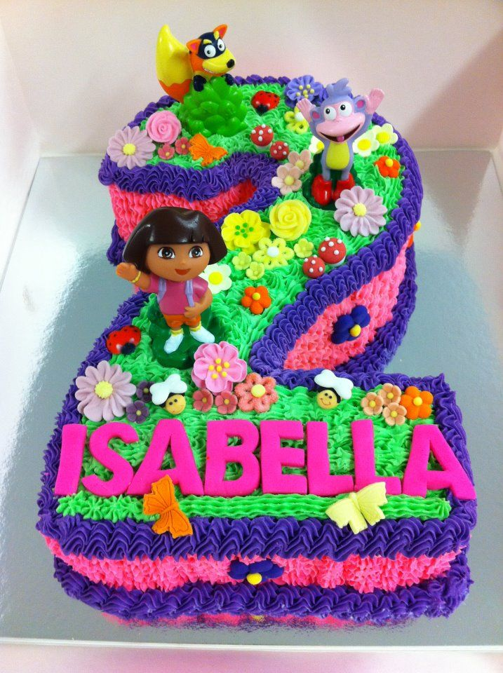 Terrific 7 Dora Birthday Cakes For A One Year Old Photo Happy Birthday Birthday Cards Printable Nowaargucafe Filternl