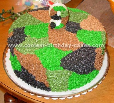 11 Easy Camo Cakes Photo Easy Camo Birthday Cake Ideas Camo Cake