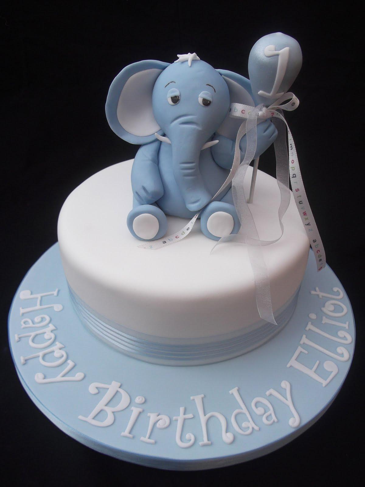 10 Elephant Birthday Cakes For Boys Photo Elephant Baby Shower