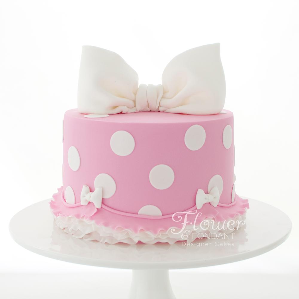 Astonishing 11 Cute Polka Dot Girl Birthday Cakes Photo Polka Dot Cake Funny Birthday Cards Online Necthendildamsfinfo