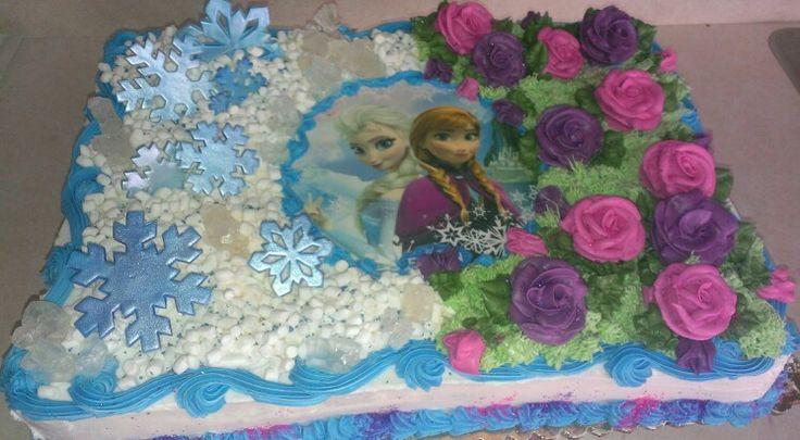 11 Disney Frozen Cakes Buttercream Sheet Tray Photo Disney Frozen