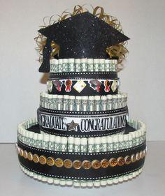 Graduation Money Cake