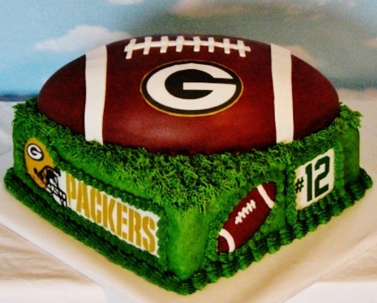 Enjoyable 6 Green Bay Packers Football Birthday Cakes Photo Green Bay Personalised Birthday Cards Rectzonderlifede