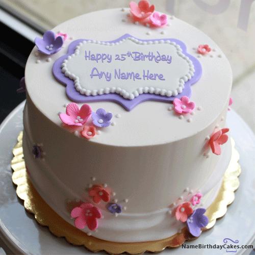 Happy 25th Birthday Cake