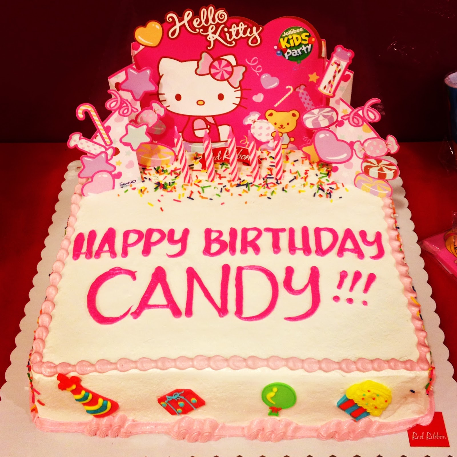 Astonishing 5 Hello Kitty Red Ribbon Cakes Photo Jollibee Hello Kitty Cake Funny Birthday Cards Online Inifofree Goldxyz