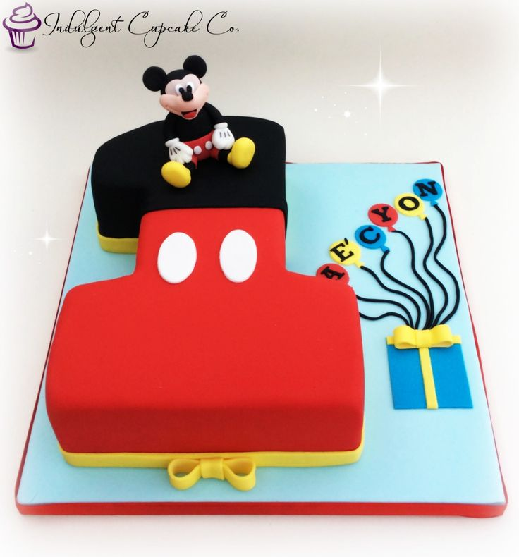 11 Baby Mini Mouse Cakes Mickey Mouse Cake And Number 1 Photo