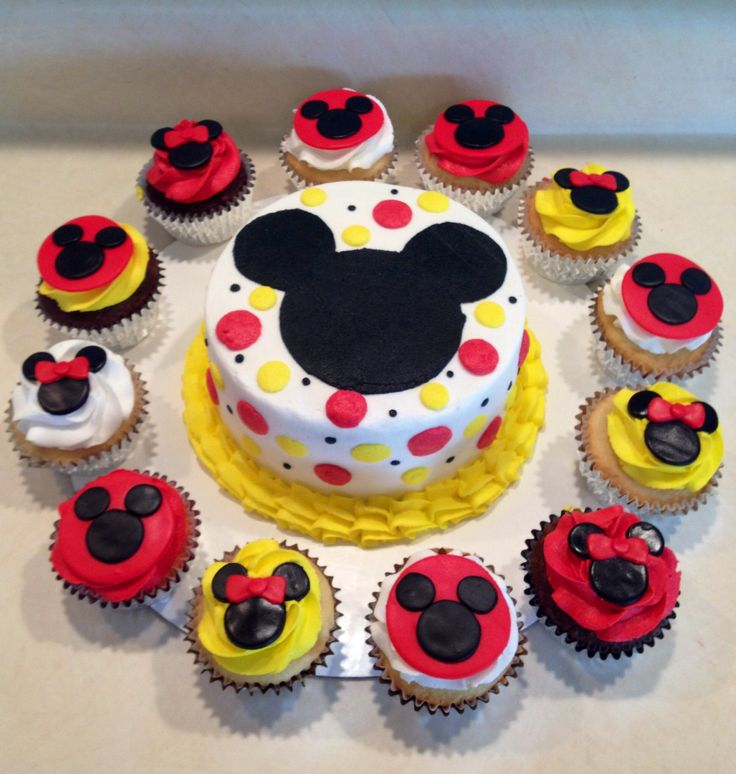 9 Mickey Mouse Cakes Bakery Photo Mickey Mouse Cupcake Cake