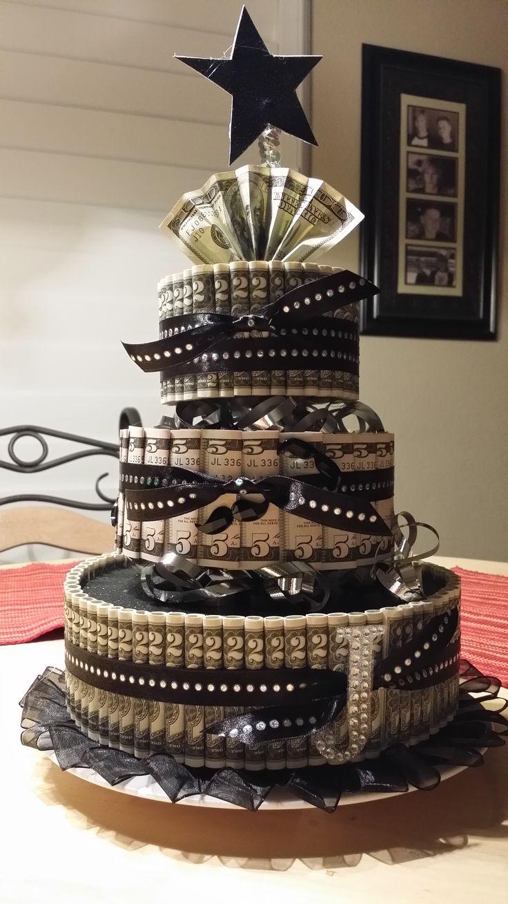 12 Mone Birthday Cakes Photo Money Birthday Cake Money Birthday