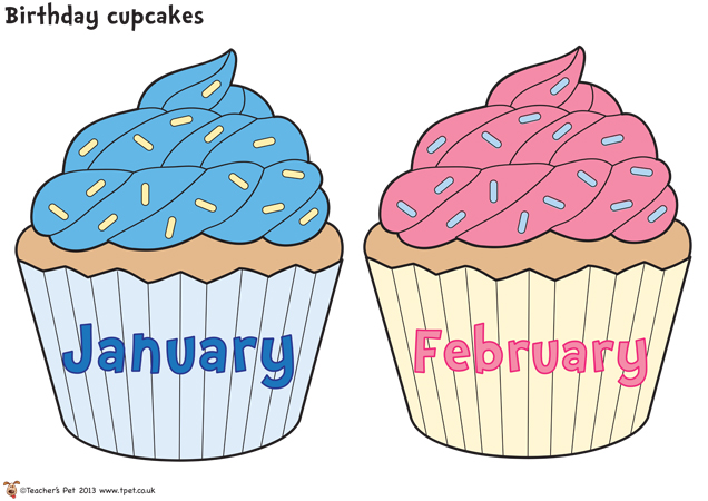 11 birthday month cupcakes with printable photo free printable