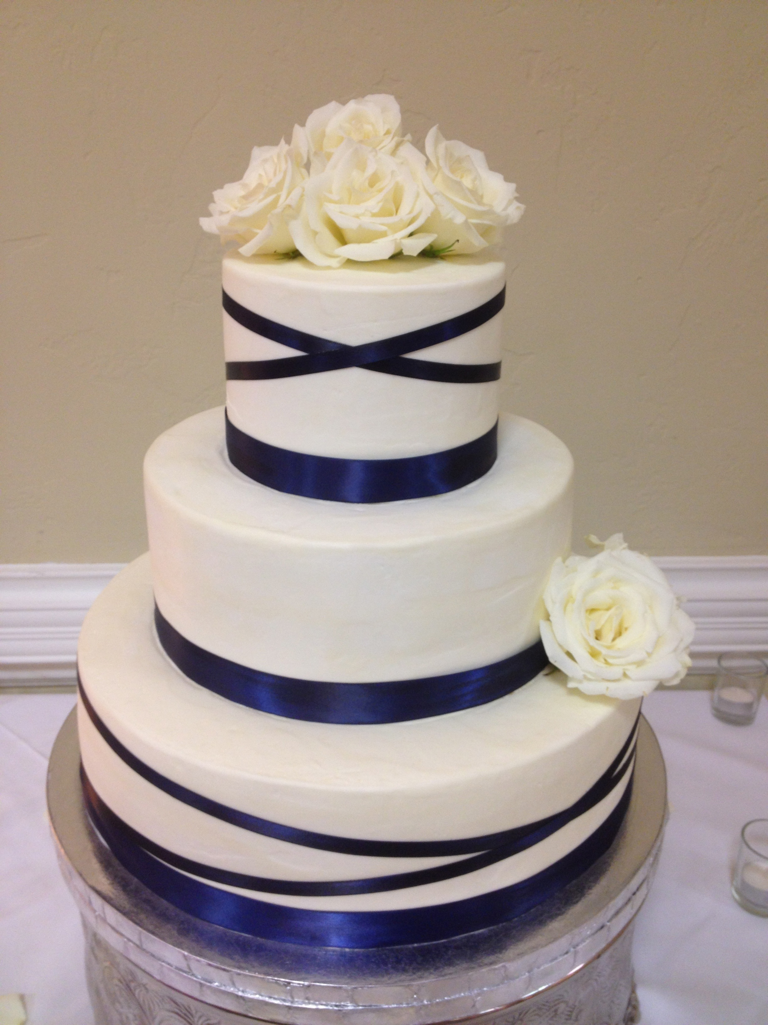 12 navy blue with pink flowers cakes photo navy blue wedding cake navy blue wedding cake flowers izmirmasajfo Images