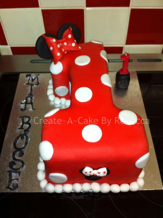 Pleasant 11 Baby Mini Mouse Cakes Mickey Mouse Cake And Number 1 Photo Funny Birthday Cards Online Amentibdeldamsfinfo