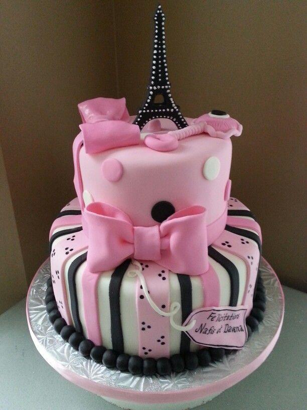 13 Paris Themed Baby Shower Cakes Photo Paris Baby Shower Cake
