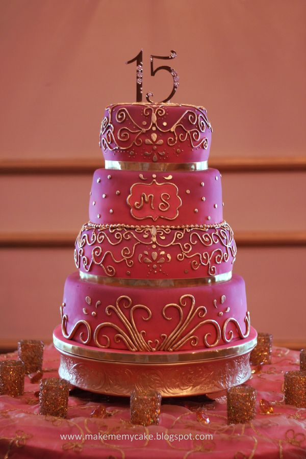 5 Fifteen Cakes For Girls Photo Sweet 15 Birthday Cake Ideas