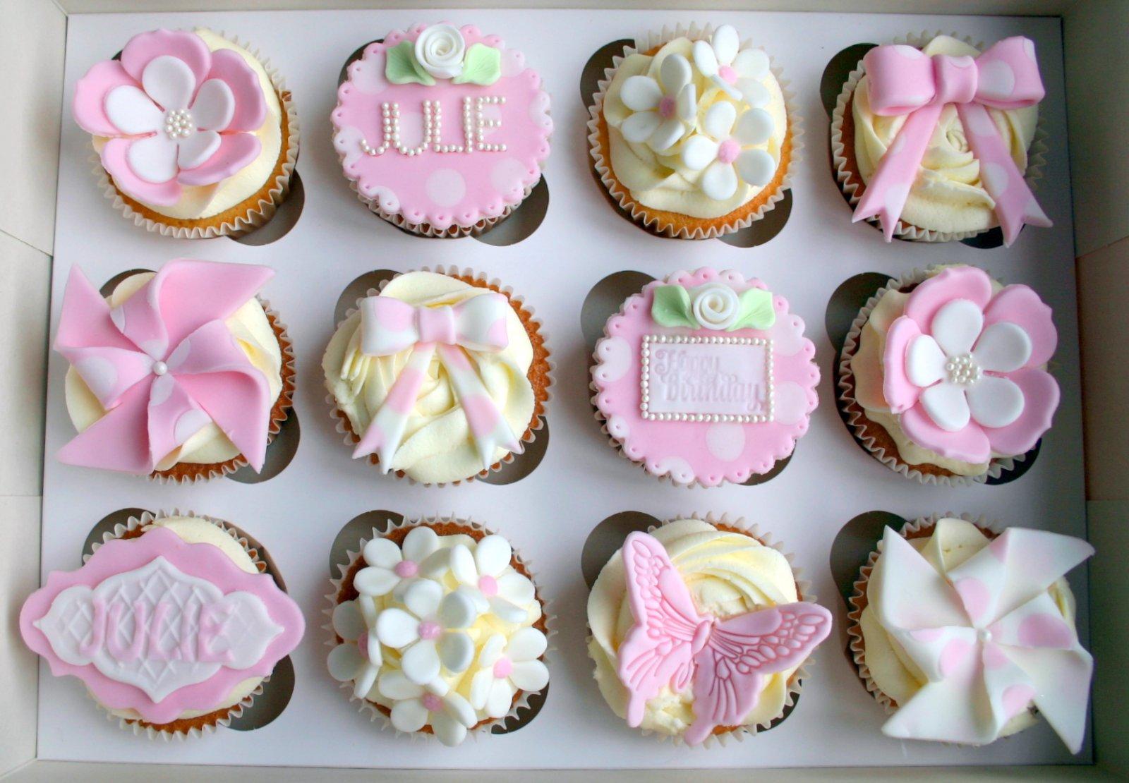 Shabby Chic Birthday Cupcakes
