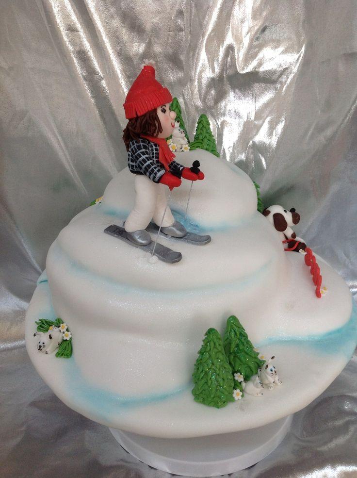 Chocolate Ski Themed Cakes