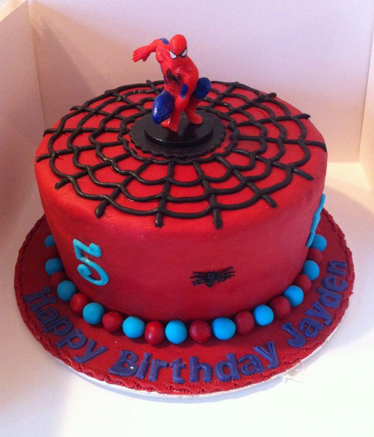 10 Spider Cakes For Boys Birthday Photo Boys Superhero Birthday