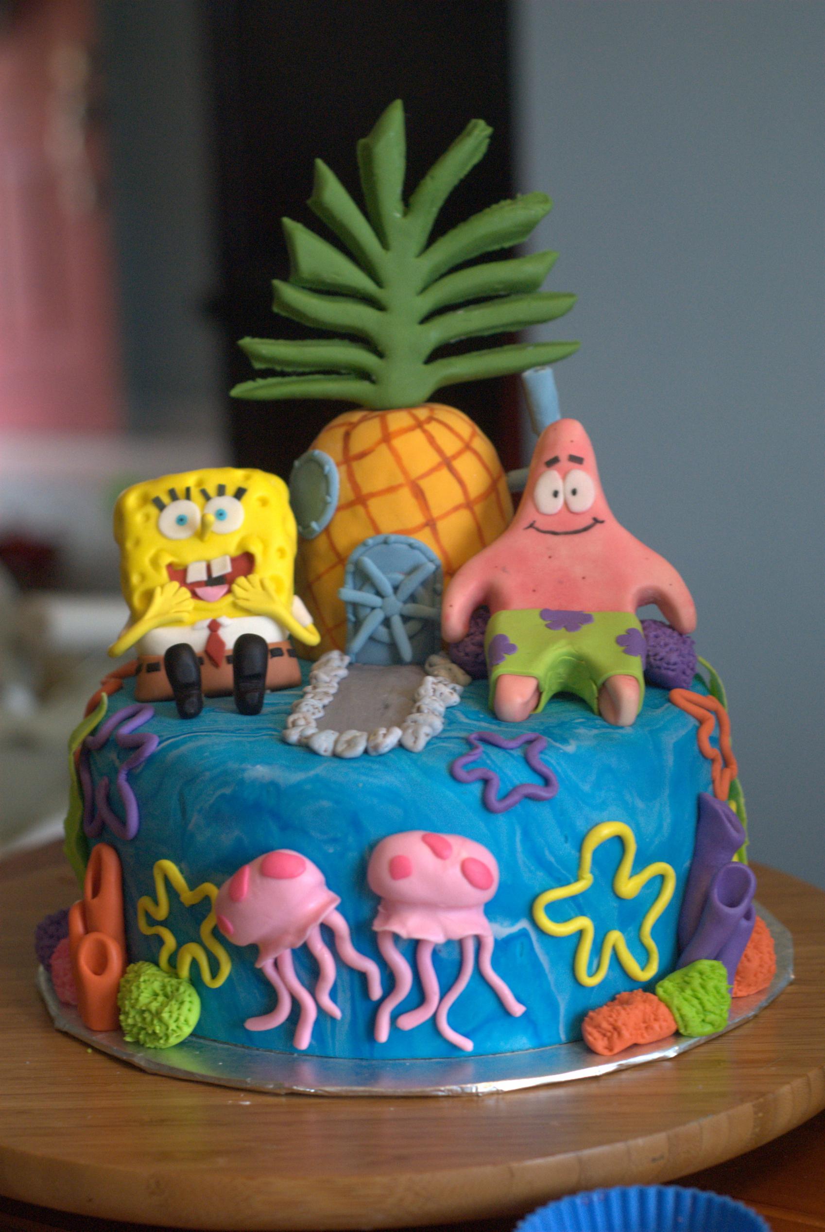 Prime 8 Spongebob Squarepants Birthday Cakes Photo Spongebob Birthday Funny Birthday Cards Online Alyptdamsfinfo