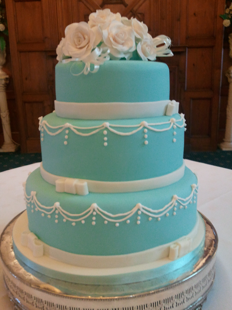11 Blue Three Tier Wedding Cakes Photo 3 Tier Wedding Cake With