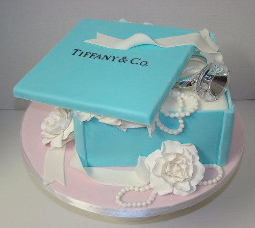 10 Photos of Engagement Tiffany Small Cakes